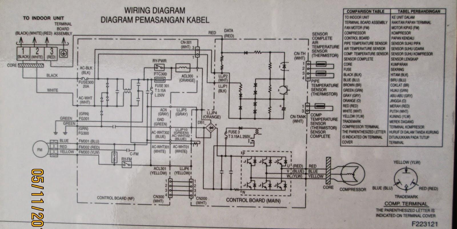 wiring diagram ac split inverter av plug service kota serang baru kelistrikan