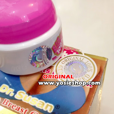 Cream Pembesar Payudara Alami Dr Susan Aman dan Cepat (Dr. Susan Big Bust) Asli Double Hologram dan Embows