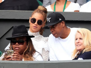 Celebrities like Beyonce Jay Z and Natalie Portman watch Serena