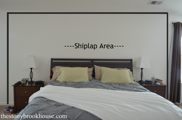 Shiplap feature area