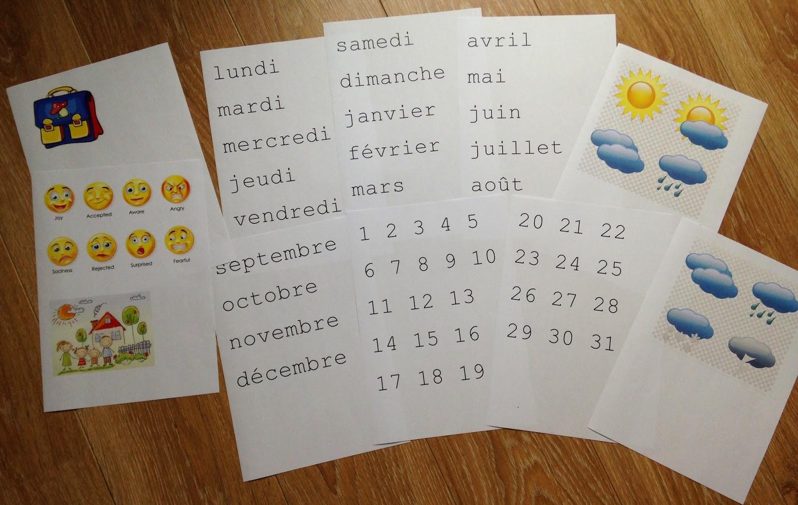 Comment Faire Un Calendrier Fait Maison mon joli petit bureau: diy : un calendrier perpétuel pour