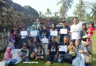Sebagian peserta Jelajah Cagar Budaya Banten Lama (foto pak Tb. Encep)