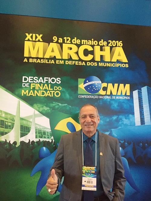 Prefeito Dr. Tinoco participa da XIX Marcha a Brasília em Defesa dos Municípios