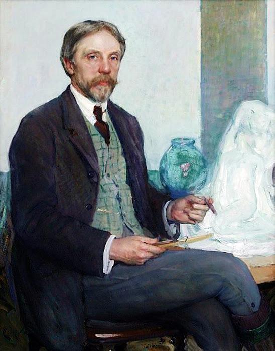 Richard Edward Miller,  International Art Gallery, Portrait of Men, Portraits Of Painters, Fine arts, Self-Portraits