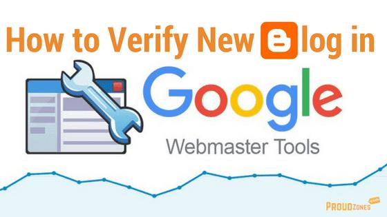 Verify blog in Webmaster tools