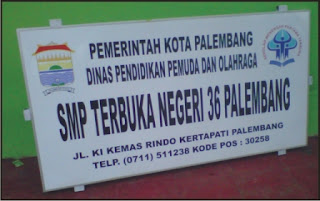 papan nama sekolah atau plang nama sekolah