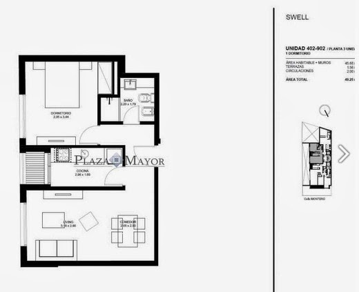 Unidad 402 - 902 Edificio Swell