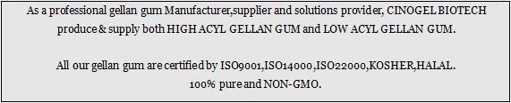 CINOGEL BIOTECH - Gellan Gum Producer & Supplier