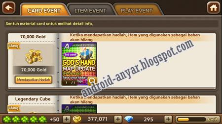 Cara dapat bonus 70.000 Gold dari event update God Hand Map update Get Rich