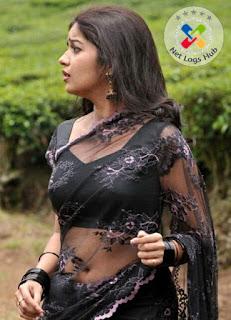 Telugu Hot Girl Swathi Reddy Hip Navel Show Stills In Transparent Designer Black Saree - NetLogsHub