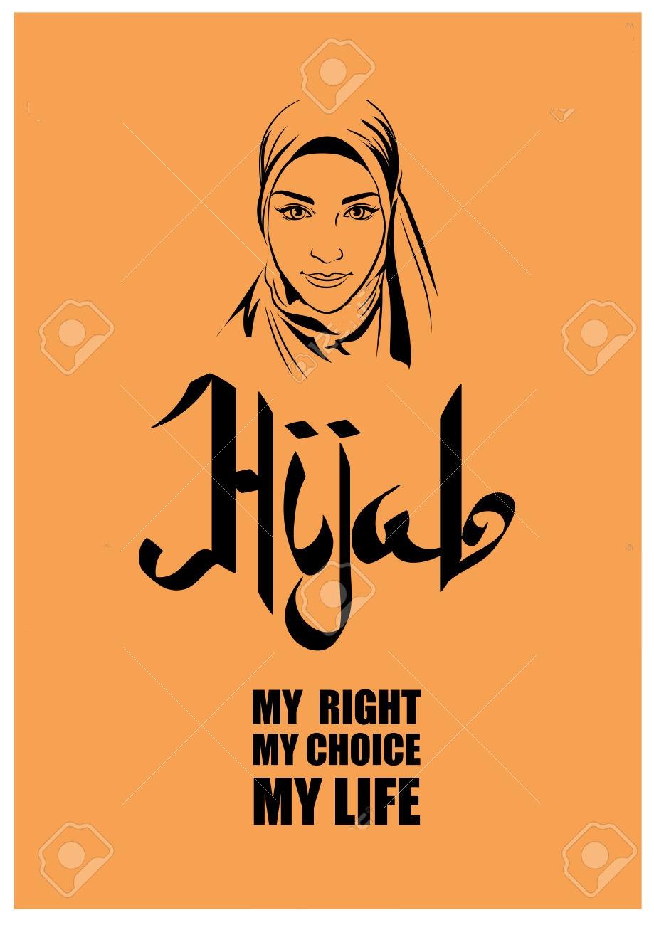 Arabic calligraphy Hijab