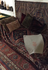 Freud's couch, Freud Museum, 20 Maresfield Gardens, London