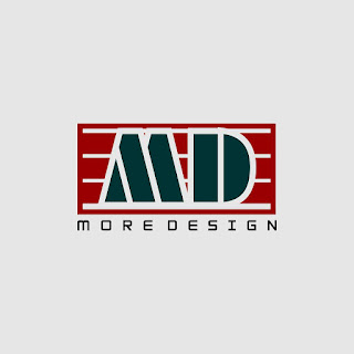 MD 3 Stripes Frame Logo Template Free Download Vector CDR, AI, EPS and PNG Formats