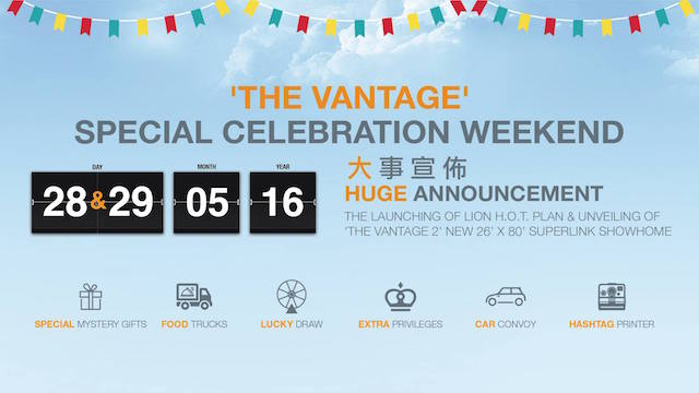 'The Vantage' Special Celebration Happening This Weekend @ Bandar Mahkota Cheras