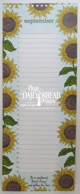 ODBD Be A Sunflower, Calendar Page Designed by Angie Crockett