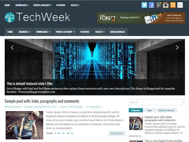 TechWeek Blogger Template
