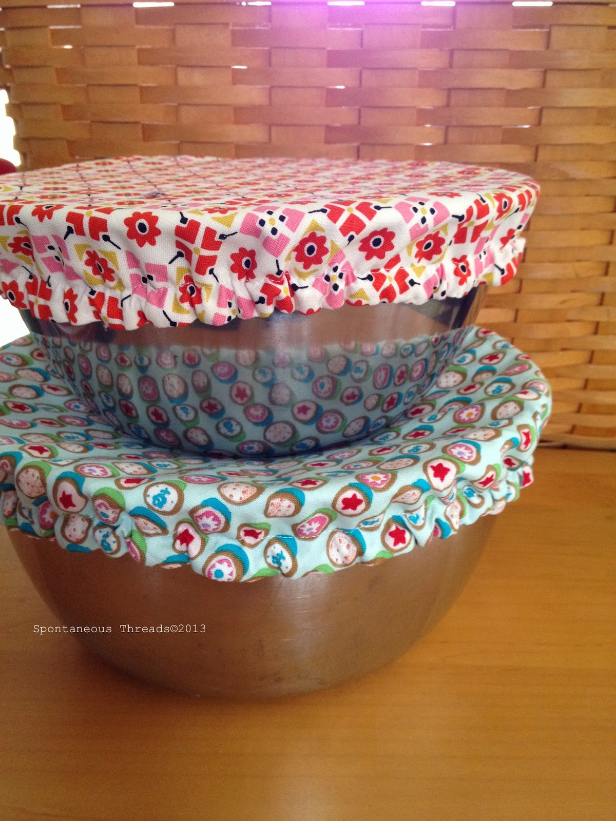 Sewing Project Fabric Basket Tutorial: Spontaneous Threads: Holiday Sewing, Kitchen Addition