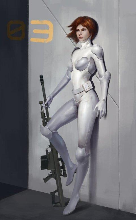 Dunhuang Chen artstation ilustrações artes conceituais ficção científica futurista mechas robôs androides desenhos