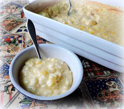 Lemon Rice Pudding