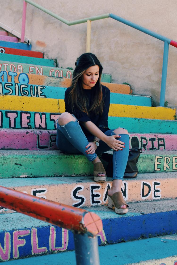 escaleras colores leon blog moda