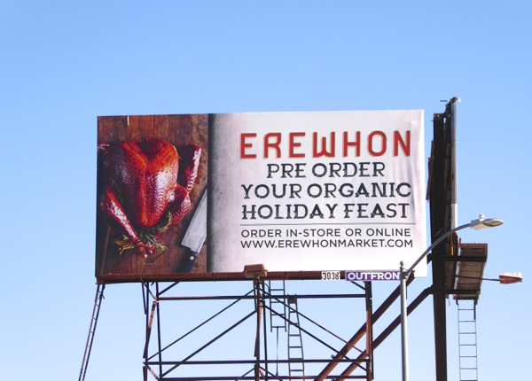 Erewhon Pre order holiday feast billboard