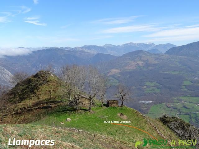 Ruta Sierra del Crespón: Vista de Llampaces