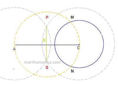 Cara Melukis Garis Singgung Lingkaran yang Melalui Titik di Luar Lingkaran
