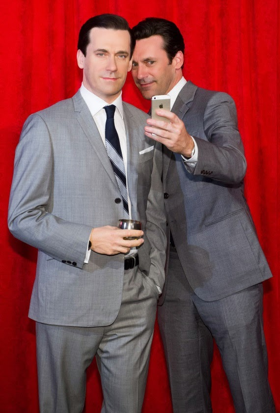 John Hamm Selfie With Himself at Madame Tussaud's