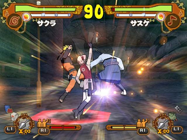 Naruto Shippuden: Ultimate Ninja 5 PS2 GAME ISO Gameplay