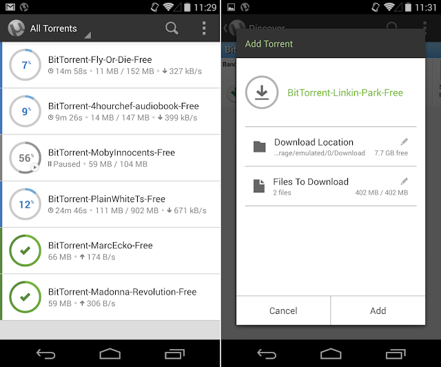 Screenshot uTorrent Pro