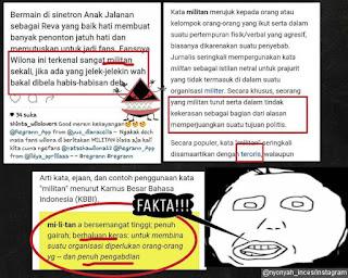 Para Fans Tak Terima Dicap Sebagai Militan Karena Bela Natasha Wilona 'Anak Jalanan' terlalu berlebihan !