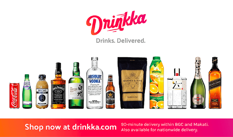 Drinkka allows door-to-door drinks delivery to BGC and Makati residents