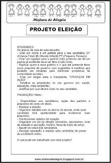 Projeto eleição na escola