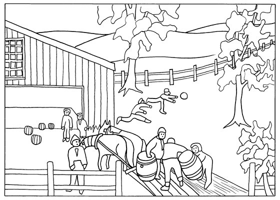 Grandma Moses Art Coloring Pages Sketch Coloring Page