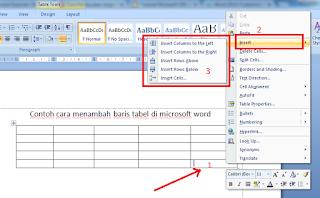 Cara Menambah Baris Tabel di Microsoft Word