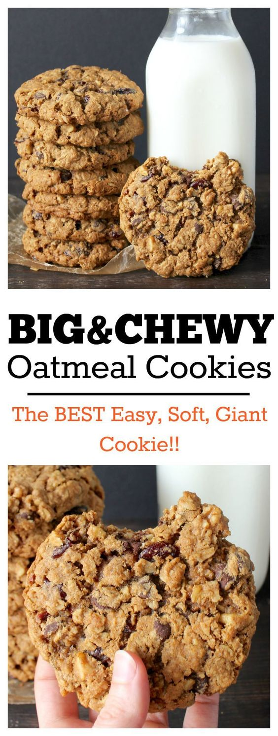 BIG AND CHEWY OATMEAL COOKIES   #DESSERTS #HEALTHYFOOD #EASYRECIPES #DINNER #LAUCH #DELICIOUS #EASY #HOLIDAYS #RECIPE #SPECIALDIET #WORLDCUISINE #CAKE #APPETIZERS #HEALTHYRECIPES #DRINKS #COOKINGMETHOD #ITALIANRECIPES #MEAT #VEGANRECIPES #COOKIES #PASTA #FRUIT #SALAD #SOUPAPPETIZERS #NONALCOHOLICDRINKS #MEALPLANNING #VEGETABLES #SOUP #PASTRY #CHOCOLATE #DAIRY #ALCOHOLICDRINKS #BULGURSALAD #BAKING #SNACKS #BEEFRECIPES #MEATAPPETIZERS #MEXICANRECIPES #BREAD #ASIANRECIPES #SEAFOODAPPETIZERS #MUFFINS #BREAKFASTANDBRUNCH #CONDIMENTS #CUPCAKES #CHEESE #CHICKENRECIPES #PIE #COFFEE #NOBAKEDESSERTS #HEALTHYSNACKS #SEAFOOD #GRAIN #LUNCHESDINNERS #MEXICAN #QUICKBREAD #LIQUOR