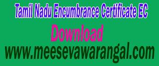 Tamil Nadu TN Encumbrance Certificate EC Online Download