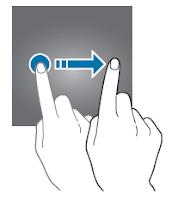 Scorrimento del dito sullo schermo