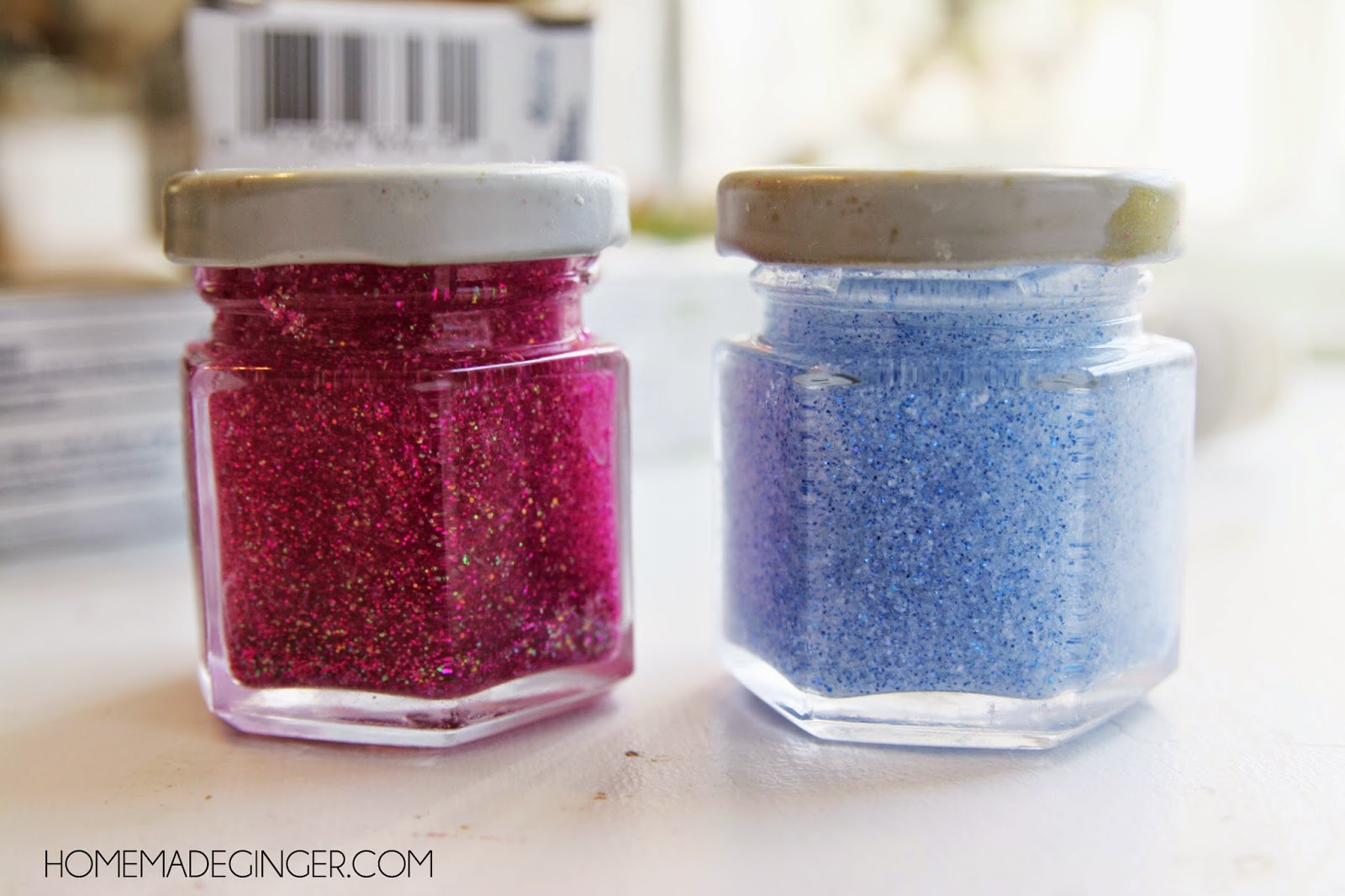 Toothbrush timers. A great craft for kids using glitter, glue and water!
