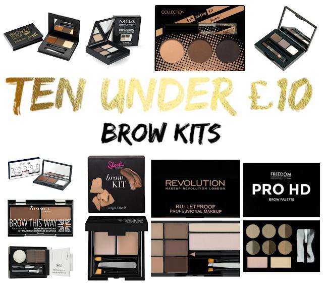 Ten Under £10 | Budget Brow Kits