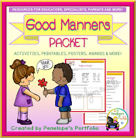 Good Manners Character Education Packet