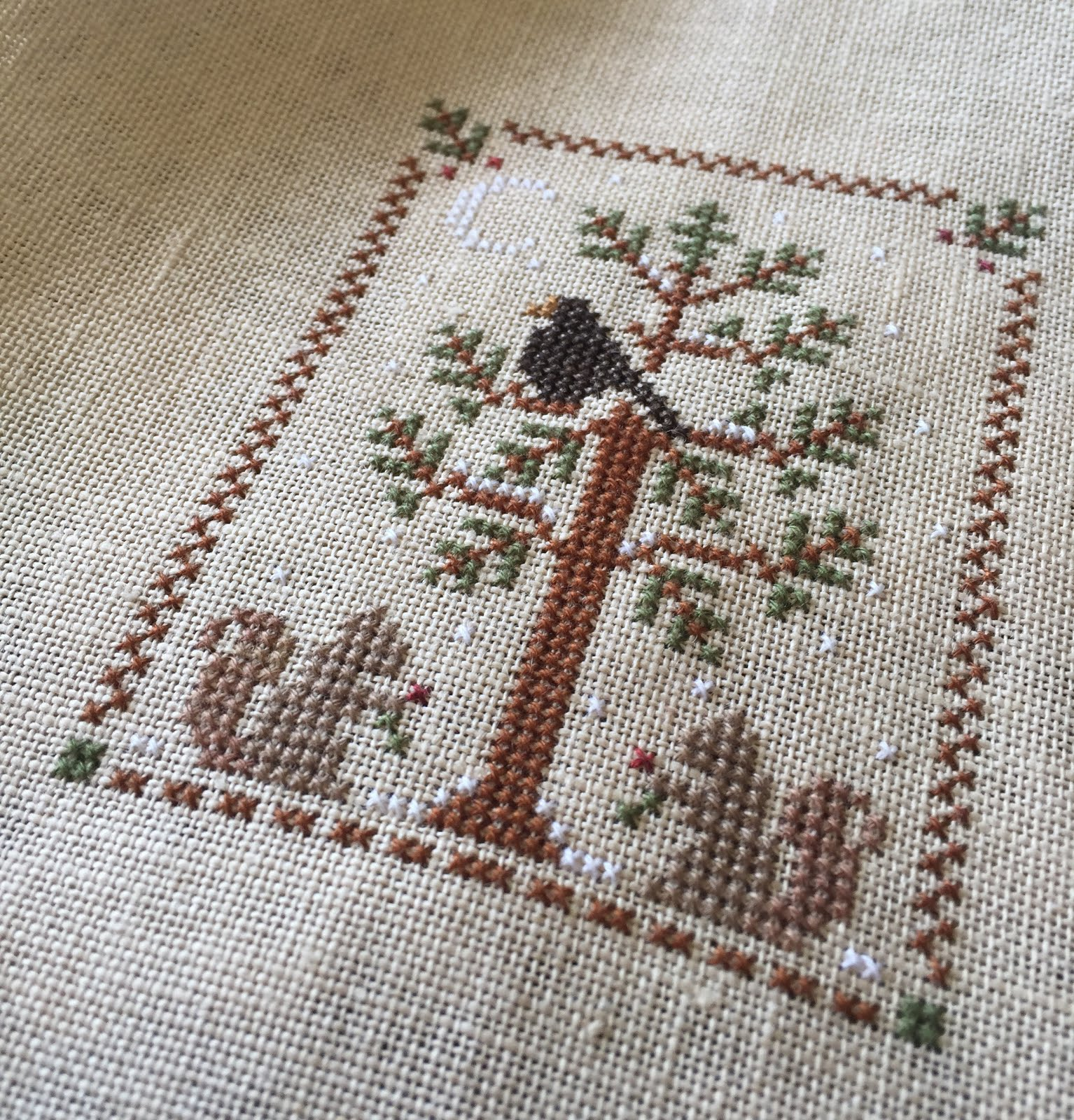 Completed- Little House Needleworks Ornament