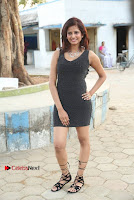 Actress Model Sravani Cute Stills in Silver Tight Short Dress at Pochampally IKAT Art Mela 2017 Launch  0020.jpg