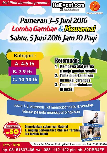 Pameran dan Lomba Gambar Mewarnai di Pluit Junction Jakarta 2016 bulan juni