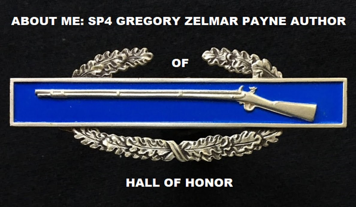 "ABOUT ME: SP4 GREGORY ZELMAR PAYNE AUTHOR OF ""HALL OF HONOR"""