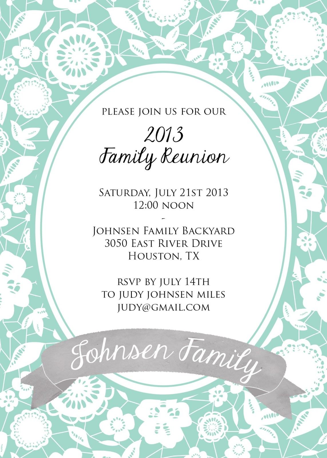 Reunion Invitation Templates 1000 images about reunion – Family Gathering Invitation Wording