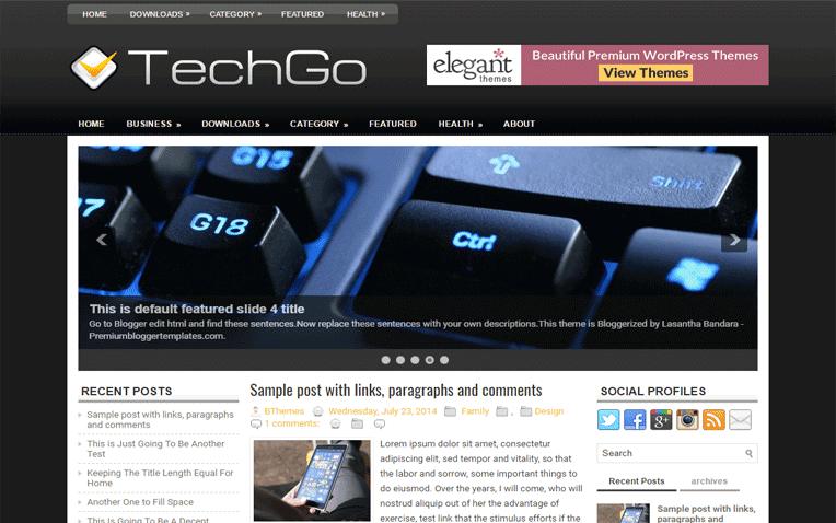 TechGo Free Blogger Template