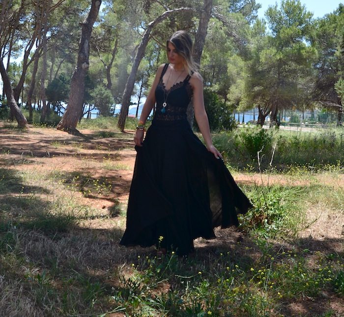 CHARO RUIZ IBIZA (PART II) ♥ LONG BLACK DRESS