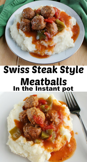 Enjoy the flavors of Swiss steak, but made even simpler. Swiss steak style meatballs are ready in no time in the instant pot.
