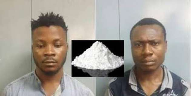 Two Nigerian nationals were on Friday, arrested by India police and 50 g of cocaine worth Rs. 2.5 lakh (N1.2million) recovered from them